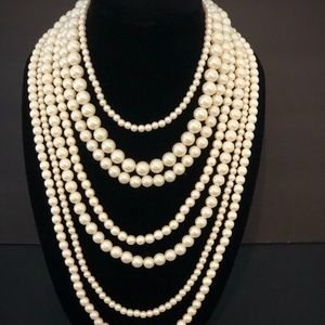 Jewelry - Vintage Pearl Multi-Strand Necklace